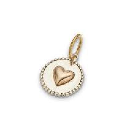 Palas Heart on disc charm